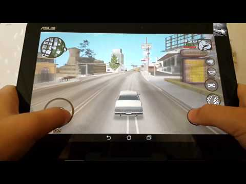 Gaming of Asus MeMo pad HD 10 ME102A:GTA:San Andreas