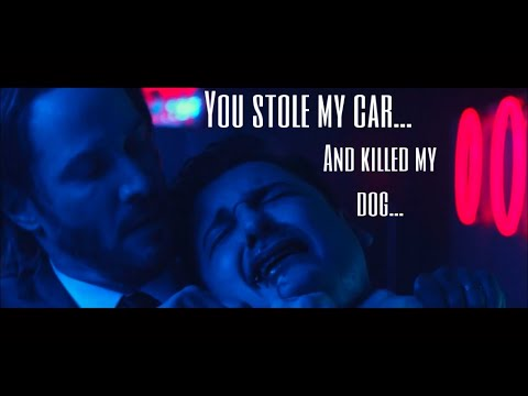 They stole his car and killed his dog | John wick Night club fight...