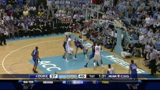 UNC vs Duke (March 5, 2011): 15 minutes of highlights and key plays