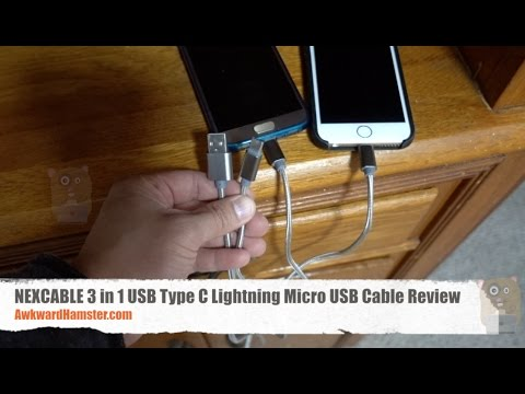 NEXCABLE 3 in 1 USB Type C Lightning Micro USB Cable Review