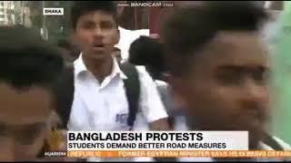 Al Jazeera news about Bangladeshi students protest! #Al_jazeera