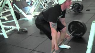 Tree fiddy deadlifts (415x2) - 12/12/11 Workout Vlog