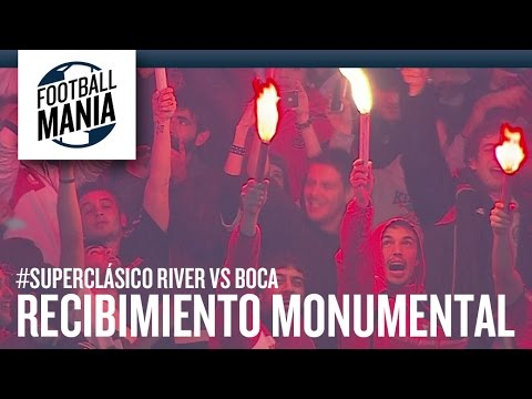 Video - River Plate Vs Boca Juniors - Recibimiento Monumental - Copa Libertadores 2015 - Los Borrachos del Tablón - River Plate - Argentina