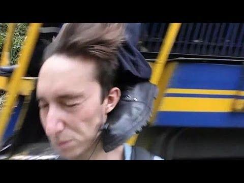 Man Kicked In The Head By Speeding Train – Most Dangerous Selfie