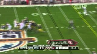 Manti Te'o vs Alabama (2012 Bowl)