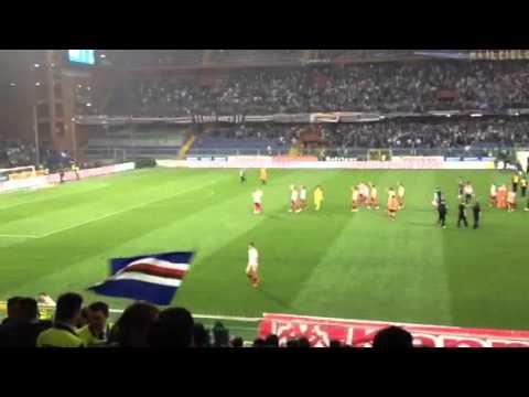 Sampdoria – Varese 3-2, l'esultanza dei tifosi