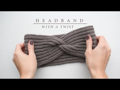 How to knit a headband with a twist | Knitting tutorial