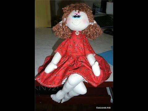 Как можно сделать куклу из ткани видео