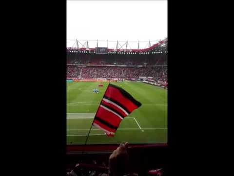 Opkomst FC Twente - FC Utrecht en goal Ünal