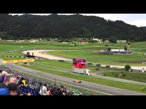 View from Red Bull grandstand at 2015 Austrian F1 Grand Prix