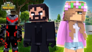 TEAMING UP WITH JOHN WICK! | Fortnite in Minecraft | Little Kelly