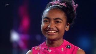 14-year-old Jasmine Elcock with another impressive singing performance on Britain's Got Talent 2016, Final.