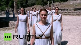Olympia Greece  city photos : Greece: Ancient Olympia hosts 80th Olympic flame ceremony ahead of Rio 2016