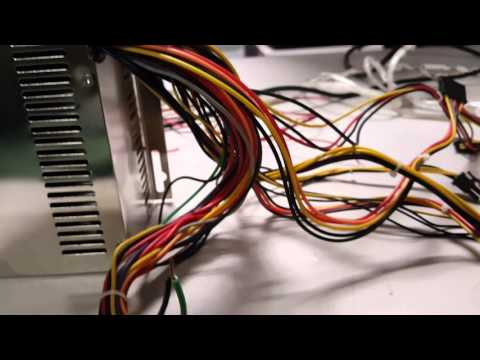 Use a computer power supply to power multiple led light strips