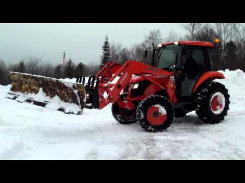 Kubota Snow PLow angling...homemade