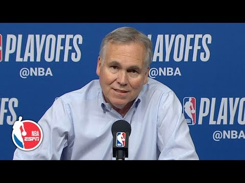 Mike D'Antoni credits James Harden's offensive productivity after Rockets' Game 1 win | NBA on ESPN