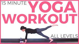 Video 15 Minute Power Yoga Workout (All Levels)   SarahBethYoga MP3, 3GP, MP4, WEBM, AVI, FLV Maret 2018