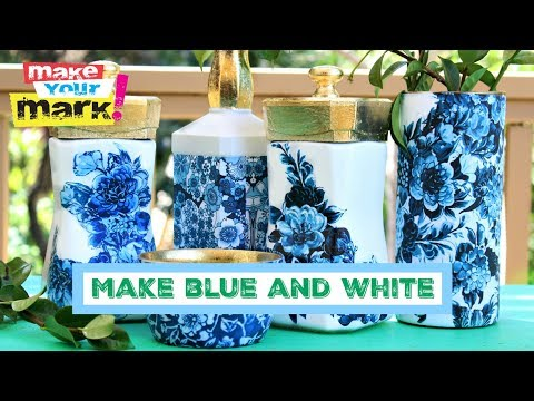 Blue And White Jar Makeovers