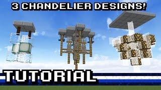 Minecraft: 3 Chandelier Designs! [Tutorial]
