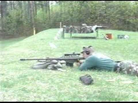 barrett - USMC Scout Sniper Instructor School Terminal Ballistics Demonstration of the Barrett M82A1A SASR Sound is out of sync I am to lazy to reupload the video so h...