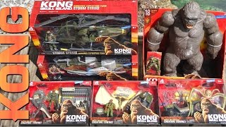 "Opening / Unboxing the toys from the movie Kong: Skull Island!  Includes 18"" tall Kong (46cm), Helicopter, Boat, Skullcrawler set, Mother Longlegs set, and Psychovulture set. Includes human characters and smaller vehicles and playsets.My Facebook https://www.facebook.com/xINVISIGOTHxMusic by Kevin MacLeod"