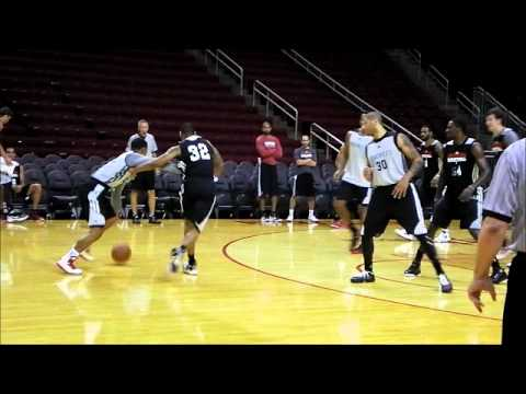 Royce White's First Rockets Practice