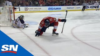 Frank Vatrano's Diving Effort Sets Up Jonathan Huberdeau For Beautiful Goal by Sportsnet Canada