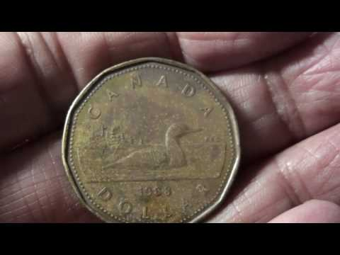 054- Rare Canadian One Dollar Coin of 1988.