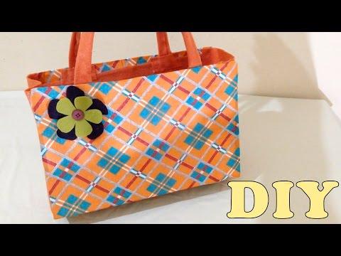 feltro - come realizzare una borsa con materiali di riciclo