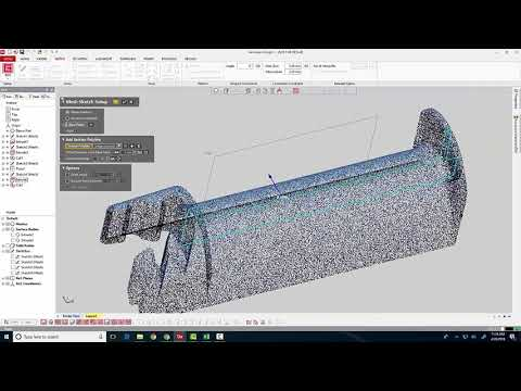 Reverse Engineering in 3D Systems Geomagic DesignX
