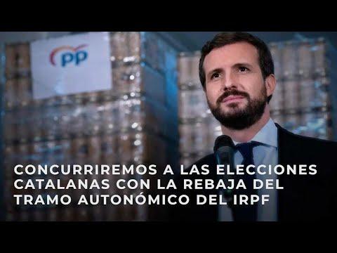 Concurriremos a las elecciones catalanas con la rebaja del tramo autonómico del IRPF