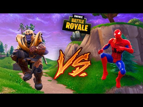 THANOS VS SPIDERMAN EN FORTNITE ! DUELO EPICO ! - ElChurches