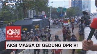 Aksi Massa di Gedung DPR RI Diwarnai Aksi Lempar Batu