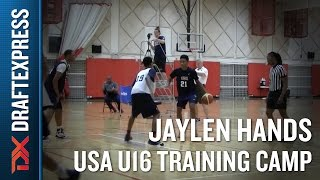 Jaylen Hands 2015 USA U16 Training Camp Footage - DraftExpress