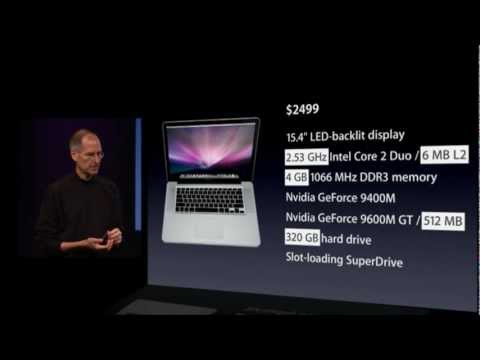 unibody - On October 14, 2008, in a press event at company headquarters, Apple officials announced a new 15-inch MacBook Pro featuring a