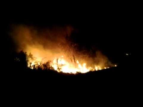 Giulianova, incendio domato a Colleranesco VIDEO