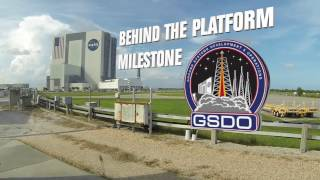 Milestone Achieved with Final Work Platform Installation in Vehicle Assembly Building by Kennedy Space Center