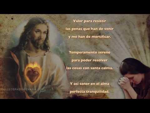 Oración al Sagrado Corazón de Jesús ♡
