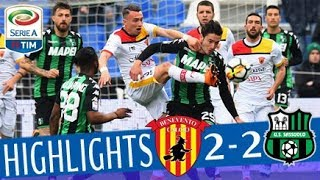 Serie A, highlights Sassuolo-Benevento 2-2
