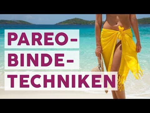 5 Pareo Bindetechniken für den Sommer