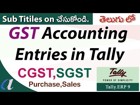 GST Accounting Entries in Tally (Telugu) 01 - CGST, SGST, Purchase, Sales - computersadda.com