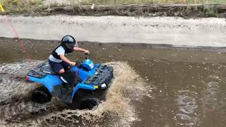 9. quad polaris sportsman 110 durch wasserloch