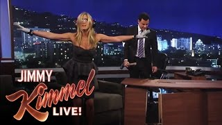Jennifer Aniston Destroys Jimmy Kimmel's New Set