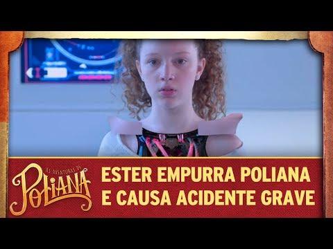 Ester empurra Poliana e causa acidente grave   As Aventuras de Poliana