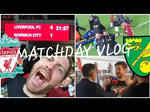 LIVERPOOL 4-1 NORWICH CITY MATCHDAY VLOG