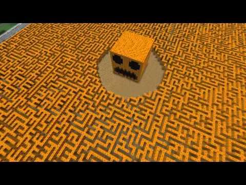 The Giant Minecraft Pumpkin Maze!