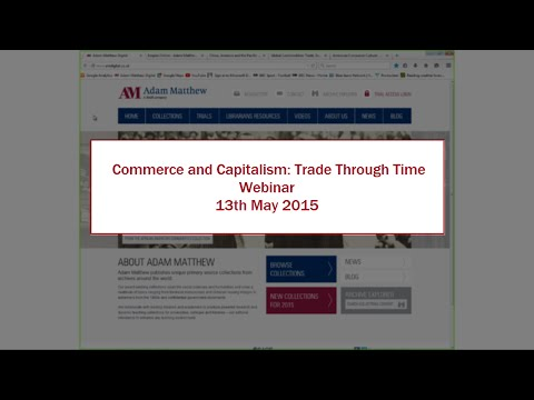 Webinar: Commerce and Capitalism: Trade Through Time
