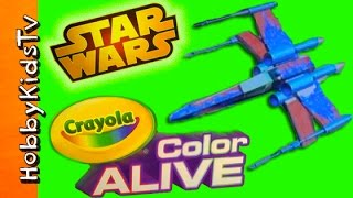 Star Wars Color Alive Virtual Design Pro! Arts N Crafts Fun HobbyKidsTV