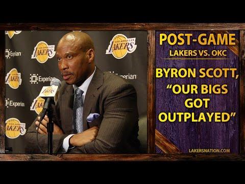 Video: Byron Scott On Lakers Bigs Getting Outplayed, Jeremy Lin's Progress