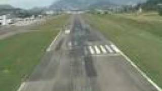A Boeing 737 cockpit view of the approach and landing into the Tegucigalpa airport located in Honduras. Tegucigalpa (TGU) is...